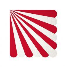 Tovaglioli Piccoli Red Stripe di Meri Meri :: acquista su Baby Bottega