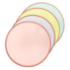 Pastel Neon Edge Dinner Plates from Meri Meri :: Baby Bottega