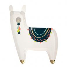 Llama Christmas Plates from Meri Meri :: Baby Bottega