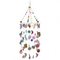 Metallic Moon And Stars Chandelier from Meri Meri :: Baby Bottega