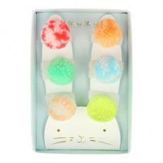 Bunny Pompom Hair Ties from Meri Meri :: Baby Bottega