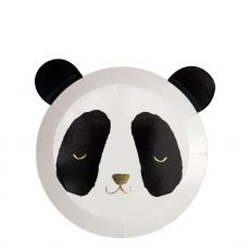 Panda Plate with gold foil accents for kids parties from Meri Meri :: Baby Bottega