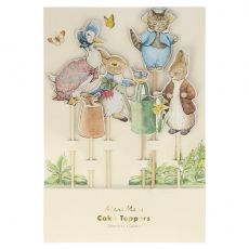 Set of 6 cake toppers from the Peter Rabbit & Friends Collection by Meri Meri online at Bay Bottega