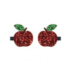 Glittery apple clips hair accessories from Mimi & Lula :: Baby Bottega