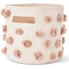 Pompom Rose Pink Storage Bin from Pehr :: Baby Bottega