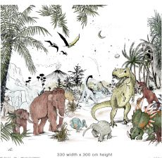 Prehistoric Murale 330 x 300 cm da  Annet Weelinks Carta da Parati :: Baby Bottega