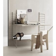 String System Child's Desk 80 X 85 cm from String Furniture :: Baby Bottega