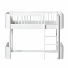 Wood mini + low loft bed from Oliver Furniture :: Baby Bottega