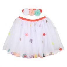 Tutu e cerchietto con paillettes bianchi di Meri Meri :: acquista ora su Baby Bottega