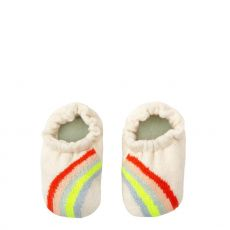 Rainbow Baby Booties from Meri Meri available at Baby Bottega