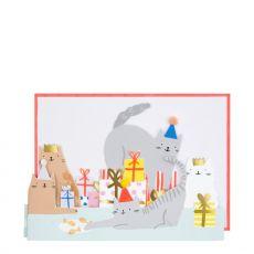 Biglietto di auguri Cat Party di Meri Meri :: acquista ora su Baby Bottega