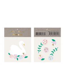 Floral Swan Tattoos from Meri Meri :: Available at Baby Bottega