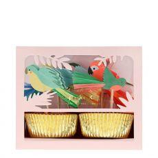 Tropical Bird Cupcake Kit from Meri Meri :: Available at Baby Bottega