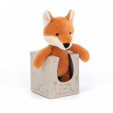 My Friend Fox Rattle, soft toy for newborns from Jellycat :: Baby Bottega