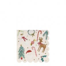 Festive Motif sm napkins from Meri Meri Holiday Christmas Collection