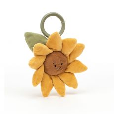 Fleury Sunflower Jitter, toy for newborn from Jellycat :: Baby Bottega
