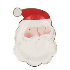 Jolly Santa Plates from Meri Meri Holiday Christmas Collection :: Available at Baby Bottega