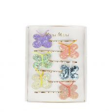 Glitter Butterfly Hair Slides from Meri Meri :: Baby Bottega