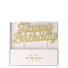 Candela Gold Happy Birthday di Meri Meri :: Baby Bottega