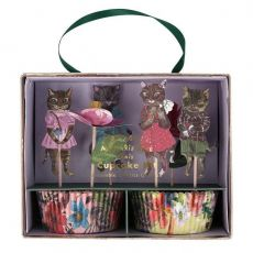 Nathalie Lete Flora Cat Cupcake Kit di Meri Meri :: Baby Bottega