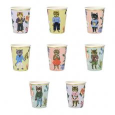 Nathalie Lete Flora Cat Party Cups from Meri Meri :: Baby Bottega