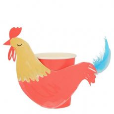 On the Farm Rooster Party Cups  from Meri Meri :: Baby Bottega