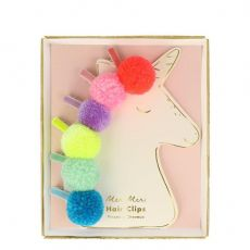 Pompom Unicorn Hair Clips from Meri Meri :: Baby Bottega