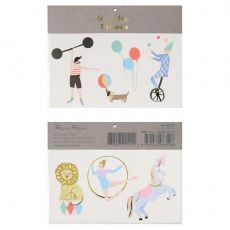 Circus Large Tattoos from Meri Meri :: Baby Bottega