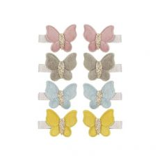 Velvet Butterfly Clips from Mimi & Lula :: Available at Baby Bottega