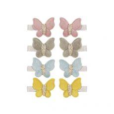 Clip Farfalla in velluto di Mimi & Lula :: acquista ora su Baby Bottega