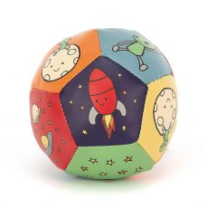 Zoom to the Moon Doing Ball plush toy for babies from Jellycat :: Available at Baby Bottega