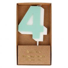 Candela numero 4 di Meri Meri :: acquista ora su Baby Bottega
