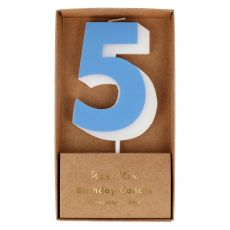 Number Candle 5 in blue from Meri Meri :: Available at Baby Bottega