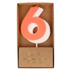 Candela numero 6 di Meri Meri :: acquista ora su Baby Bottega