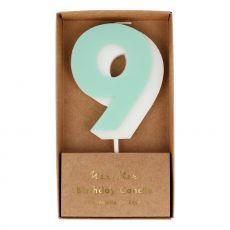 Candela Numero 9 di Meri Meri :: acquista ora su Baby Bottega