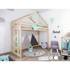 TOPPY, a Montessori styled wooden loft bed from Benlemi