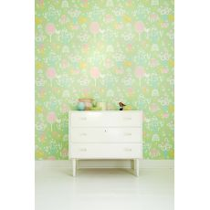 Cherry Valley Wallpaper Green