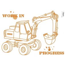 Backhoe Wall Sticker