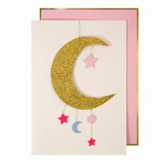 Baby Girl Mobile Greeting Card from Meri Meri :: Baby Bottega