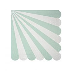 Toot Sweet Acqua Stripe Small Napkin