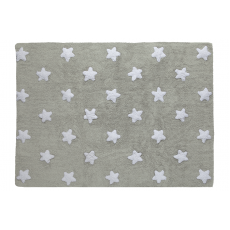 Grey White Stars Rug