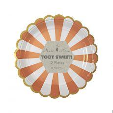 Toot Sweet Orange Stripe Party Plates from Meri Meri :: Baby Bottega