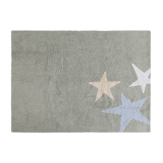 Three Star Rug Grey Blue