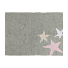 TThree Star Rug Grey Pink