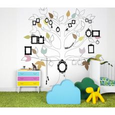 Me Tree Colour Wallpaper Mural