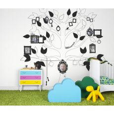 Me Tree Black & White Wallpaper Mural