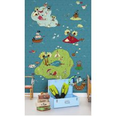 Treasure Map Colour Wallpaper Mural