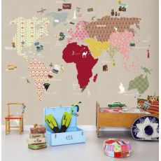 Whole Wide World Beige Wallpaper Mural