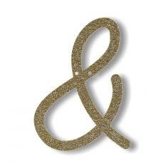Gagliardetto Acrilico Gold Glitter &