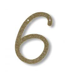 Gagliardetto Acrilico Gold Glitter 6